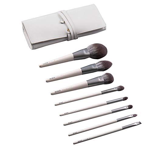 Pinceau Maquillage 8Pcs Cosmétique Professionnel Kits pour Fond de Teint L'anticernes et Correcteur Ontouring,Blush,Lèvre,Creux de La Paupière,Sourcils,Ombreur,White