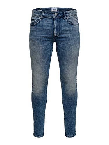 Only & Sons NOS Onswarp Washed PK 3620 Noos Vaqueros Skinny, Azul (Blue Denim Blue Denim), W36/L34 (Talla del Fabricante: 36) para Hombre