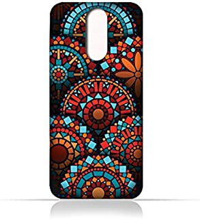 AMC Design Lava A3 Mini TPU Silicone Case With Geometrical Madalas Pattern - Multi Color