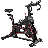 Exercise Bike, DMASUN Indoor Cycling Bike Stationary, Comfortable Seat Cushion, Multi - grips