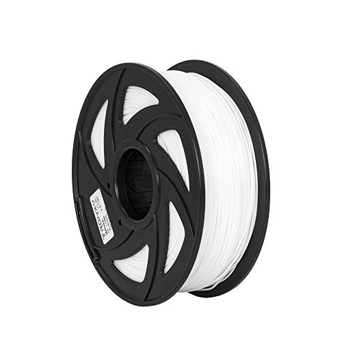 Filamento per stampante 3D in nylon, precisione dimensionale +/- 0,05 mm, bobina da 1 kg (3 lb), filamento di stampa 3D per stampanti 3D, 1,75 mm, bianco
