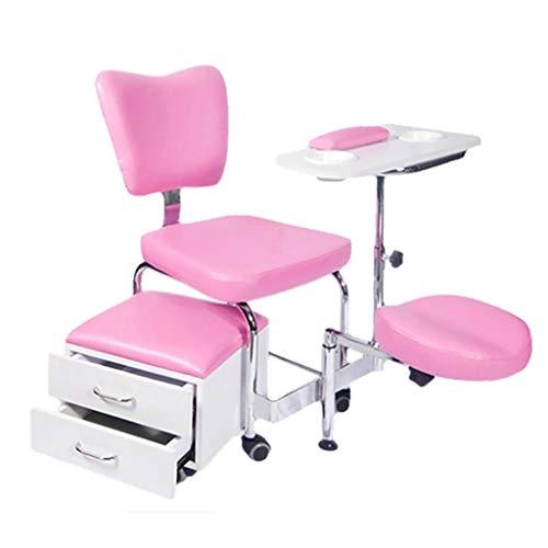 HSRG Salon Spa Pedicure Unit Nail Kruk Set, Salon Kruk Stoel met Mobiele Opslag Kast voor Nagel Salon, Pedicure Spa, Tattoo, Tandarts Clinic