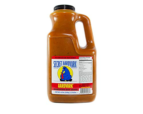 Secret Aardvark Habanero Hot Sauce | Made with Habanero Peppers & Roasted Tomatoes |Non-GMO, Low Sugar, Low Carb| Awesome Hot Sauce & Marinade 64oz