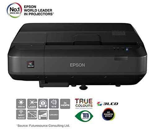 Epson Home Cinema EH-LS100 Video - Proyector (4000 lúmenes ANSI, 3LCD, WUXGA (1920x1200), 16:10, 1778 - 3302 mm (70 - 130'),...