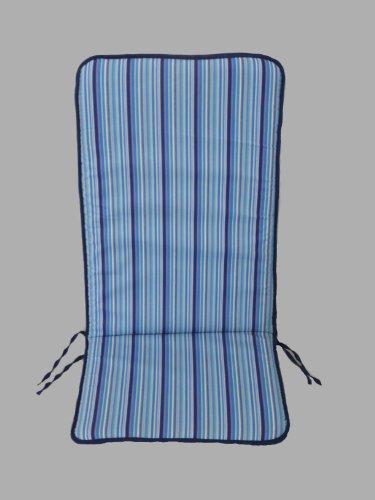 Maffei Art 530 Coussin Coton Dossier Haut cm.115x45x3. Made in Italy. Dessin Bay Bleu. Lot de 2 pièces