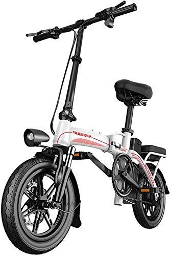 Bicicleta Eléctrica Plegable Bicicleta eléctrica de la nieve, bicicleta eléctrica de la playa de la playa de la bicicleta eléctrica de 400W de 14 pulgadas para adultos, engranaje de scooter eléctrico