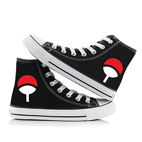 NLJ-lug Naruto Cosplay Graffiti Chaussures Chaussures en Toile Chaussures Décontractées pour Étudiants,39