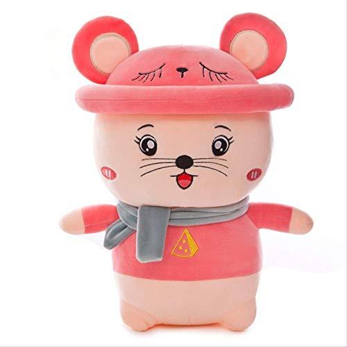 Plüschtier-Kailuoze Plüsch Stofftier Nette Maus Einzigartige weiche Baby-Puppe Spielzeug Nette Attraktive Gesicht Cuddling und Sammler (Farbe: Pink, Größe: 60 cm) ZHNGHENG