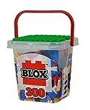 Simba 104114202 Blox 300 - Bloques de construcción para niños a Partir de 4 años, 8 Cajas de Piedra con Placa Base, Totalmente compatibles, Colores Mezclados, Negro, Rojo, Blanco, Amarillo y Azul