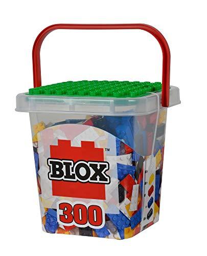 Simba – Blox – 300 Bloques de construcción para niños a Partir de 3 años, Caja de 8 Unidades con Base Totalmente Compatible, Mezcla de Colores, Negro, Rojo, Blanco, Amarillo, Azul
