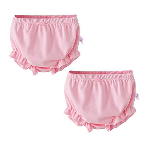 myonly - 2 Bragas Suaves de algodón para bebés y niñas, para niñas de 1 a 3 años Rosa Rosa (Rosado)