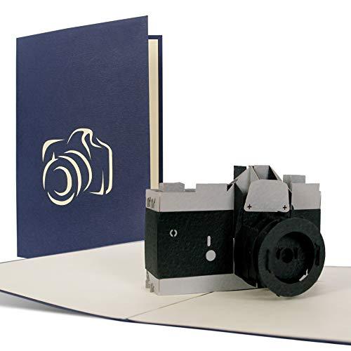 Geburtstagskarte mit Kamera, ideal als Einladung oder Glueckwunschkarte, Happy Birthday Karte T14