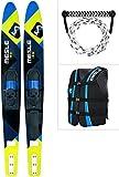 MESLE Comboski Package Strato 170 cm mit Weste Sportsman + Leine Combo, Wasser-Ski bis 120 kg Körpergewicht, für Anfänger und Fortgeschrittene, Farbe blau, Lime, rot, Farbe:Lime