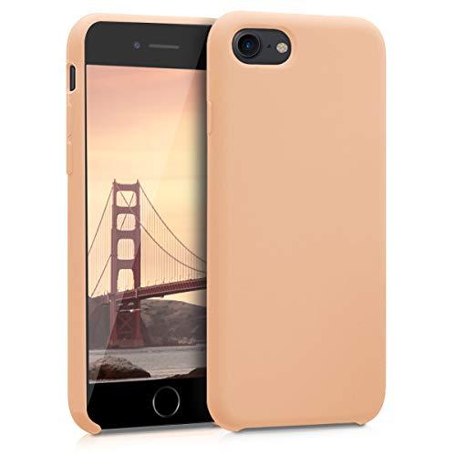kwmobile Cover Compatibile con Apple iPhone 7/8 / SE (2020) - Cover Custodia in Silicone TPU - Back Case Protezione Cellulare Pesca Pastello