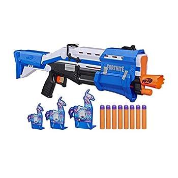 NERF Fortnite TS-R Blaster & Llama Targets -- Pump Action Blaster 3 Llama Targets 8 Official Mega Darts -- for Youth Teens Adults  Amazon Exclusive