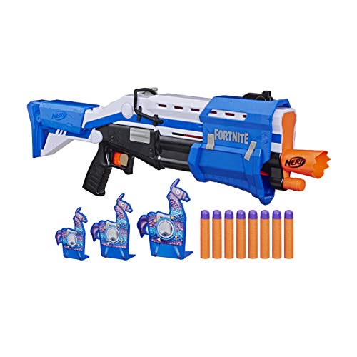 Nerf Fortnite TS-R Blaster & Llama Targets -- Pump Action Blaster, 3 Llama Targets, 8 Official Mega Darts -- For Youth, Teens, Adults