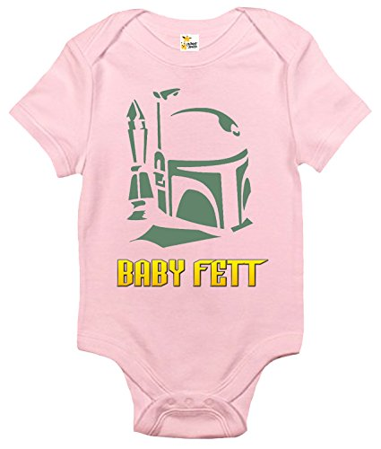 Rapunzie Baby Fett Baby Bodysuit Cute Funny Baby Clothes for Infant Boys and Girls (12-18 Months, Pink)
