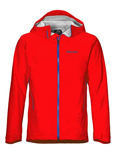 Marmot Herren Hardshell Regenjacke, Wasserdicht, Winddicht & Atmungsaktiv EVODry Clouds Rest Jacket, Victory Red, S, 41050