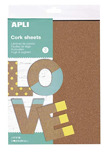 APLI Kids 17115 - Corcho A4 3 hojas, Única