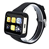 Altsommer Multi-Funktions Smart Uhr, Mini Handy Bluetooth Smart Watch mit Fitness Tracker Herzfrequenz Modus,Intelligent Armbanduhr mit Sitzende Erinnerung, für Android, IOS (Gold)