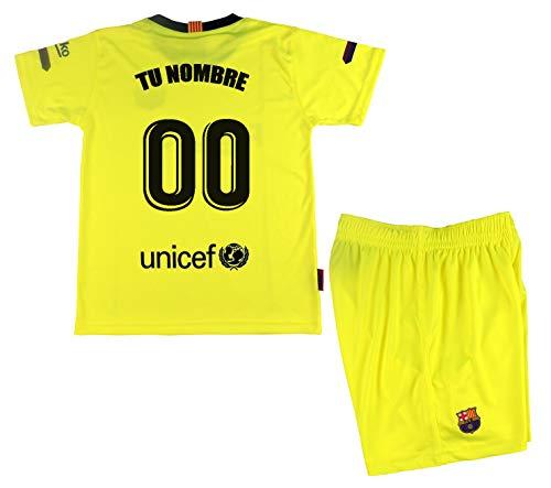 FC Barcelona kindershirt en broek, officieel gelicentieerd product, seizoen 2018-19, neongeel