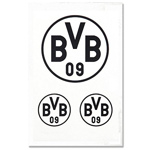 Borussia Dortmund Autoaufkleber/Aufkleber/Sticker schwarz 3er Set BVB 09 - Plus gratis Aufkleber Forever Dortmund