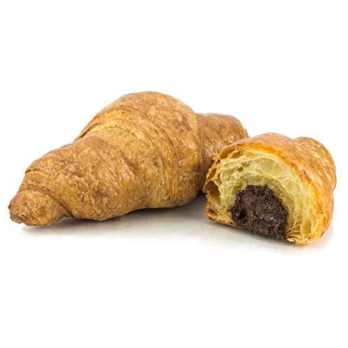 Vestakorn Handwerksgebäck, 6x Schoko-Croissants - frisches Feingebäck – Französisches Butter-Croissant mit Schokolade, 6 Stück, selbst aufbacken in 6 Minuten