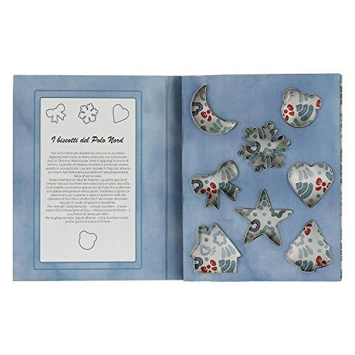 THUN - Set 6 Formine per Biscotti Natalizie in Confezione Regalo - Natale - Accessori Cucina - Linea Dolce Inverno - Acciaio Inox