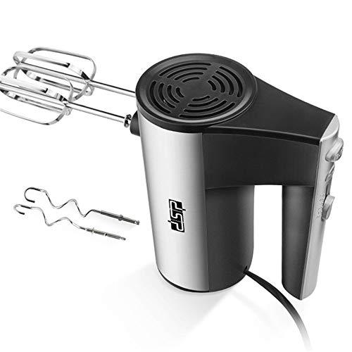 FFZH Elektrischer manueller Schneebesen,Elektrischer Kuchen-Schneebesen, Stabmixer 5 Geschwindigkeiten Leicht zu reinigen Schwarz/Silber Zum Rösten von Kaffeemilchschaum verwendet