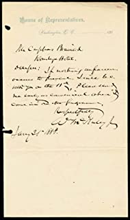 President William Mckinley - Autograph Letter Signed 01/21/1888