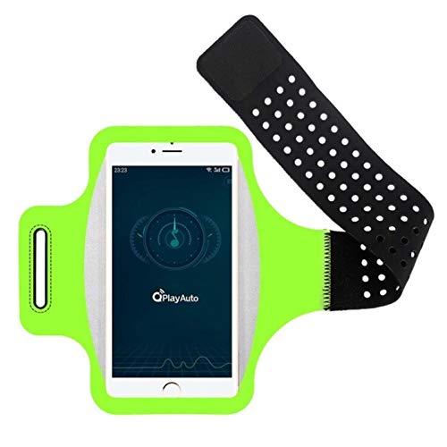 La Bolsa de Brazo Deportiva es Adecuada para iPhone SE 2020 XS XR X 7 8 6S Plus 11 Pro MAX XIAOMI Arm DE ARMPORTE DE ARMPORTE DE Armada DE LA ARMBAD MÓVIL, Adecuado para Samsung Note 10 S10 S20-Green