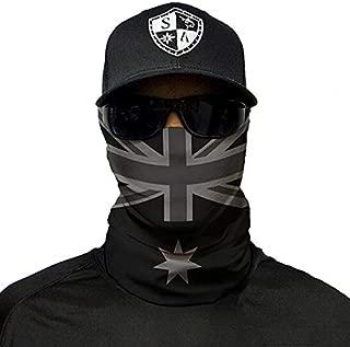 Salt Armour Face Mask Shield Protective Balaclava Bandana Microfiber Tube Neck Warmer (Blackout Australia Flag)