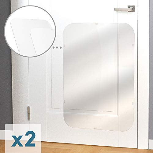 Petfect Tür-Kratzschutz, für Innen & außen, 90,1 x 61 cm, Transparent, 2 Stück