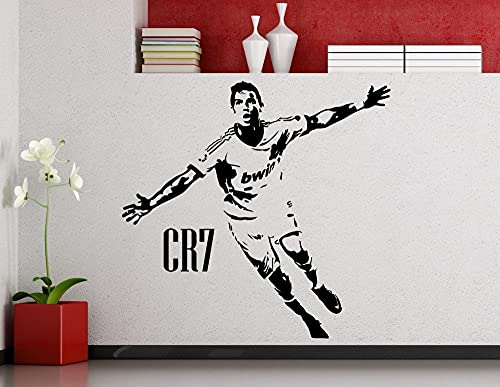 Fútbol fútbol Portugal estrella jugador Cristiano Ronaldo CR7 vinilo pared pegatina coche calcomanía niño ventiladores dormitorio sala de estar Club estudio decoración del hogar Mural