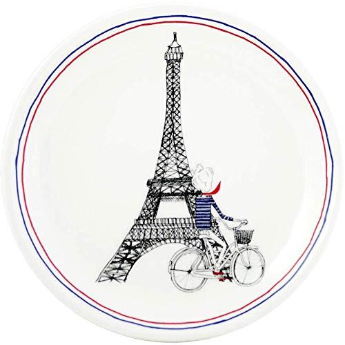 Faiencerie de Gien - Coffret 2 Assiettes mignardises dia 12.8 cm en faïence - Ça C'est Paris - 1826C02L20.