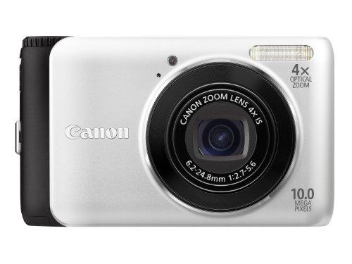 Canon PowerShot A3000 IS Digitalkamera (10 MP, 4-fach opt. Zoom, 6,7cm (2,7 Zoll) Bildschirm) silber