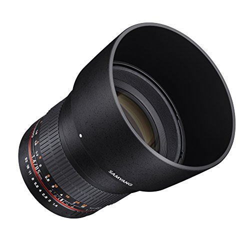 Samyang SY85M-FX 85mm F1.4 Ultra Wide Lens for Fuji X Mount Cameras,Black