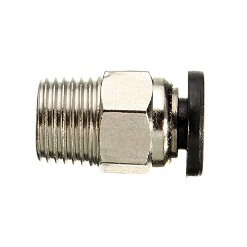 ZANYUYU 3D Printer Parts, PC4-0110PCS Pneumatic Connectors for 1.75mm 3mm PTFE Tube Quick Coupler Feed Inlet