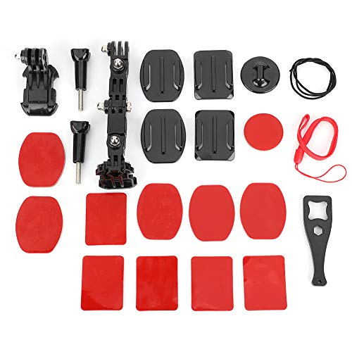 PUSOKEI Juego de Soportes Ajustables multidireccionales 23 en 1 para Kits de cámara de acción GOPRO SJCAM EKEN/cámaras de la Serie GOPRO Hero 4/3 + / 3/2/1 / SJCAM