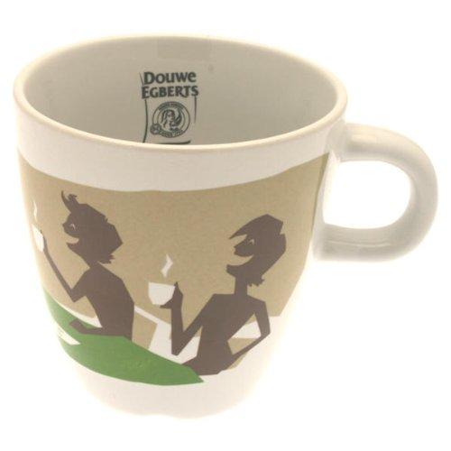 Douwe Egberts Design Tasse Kaffee Becher Kaffeetasse Grün Porzellan 250 ml