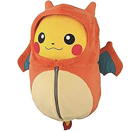 zdffgcgvg Schöner Pikachu Schlafsack Cos Charizard Ekans Eevee Plüsch weiche kreative Puppe 25 cm Eevee A und Liebhaber