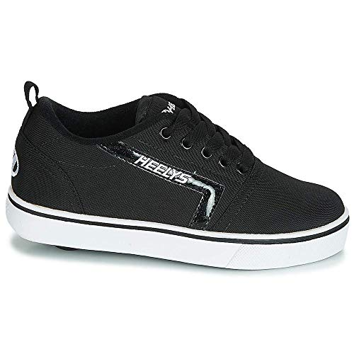 One Wheeled Design,Low Profile Wheels with Abec 5 Bearings,Padded Collar,Abrasion Resistant Brake Pad,The GR8 Pro, ideal for those already used to Heelys, come ready to hit the streets. Padded for optimal comfort and protection, with a full lace up closure for a secure fit.
