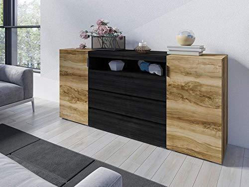 sideboard nussbaum schwarz