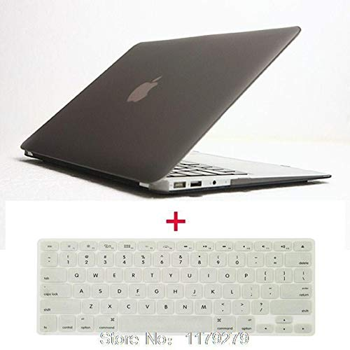 Laptop Matte Rubberized Hard Cover Case +Us Keyboard TPU for MacBook 11 12 13 15 for Mac Book Sleeve Notbook Hard Without Logo : Gray, 2 Inch Only