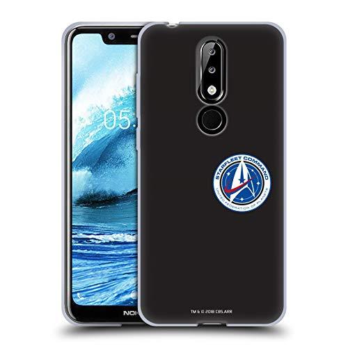Head Case Designs sous Licence Officielle Star Trek Discovery Starfleet Petit Insignes Coque en Gel Doux Compatible avec Nokia 5.1 Plus / X5
