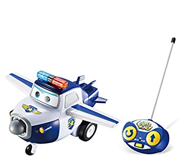 Super Wings – Remote Control Paul | R/C Police Vehicle Toy | Easy to Control | Blue and White Vehicle | Best Gift for 3 4 5 Year Old Boys and Girls | Fun for Preschool Kids | Light and Sound Effect