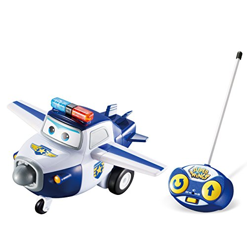 Super Wings – Toy RC Police Vehicle - Remote Control Paul