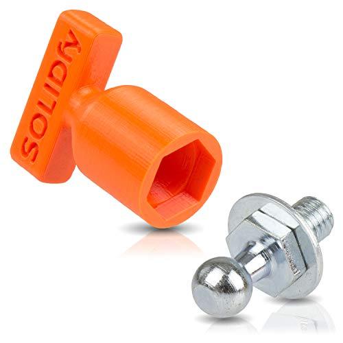 Preisvergleich Produktbild Kugelzapfen für Gasdruckfeder Heckklappe 10mm Kugel M8 Gewinde SOLIDfy