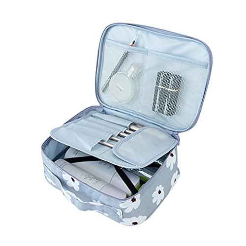 Gallity Travel Makeup Bag, Portable Waterproof Toiletry Storage Box Trumpet Mini Shampoo Bag, Brushes Organizer for Girl Cosmetic Makeup Tools Artist Jewelry Bag Adjustable Dividers