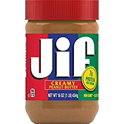 Jif Creamy Peanut Butter, 16 Ounces, 7g (7% DV) of Protein per Serving, Smooth, Creamy Texture, No S